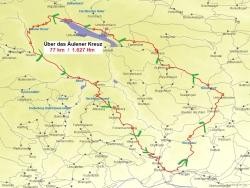 Karte Über das Äulener Kreuz