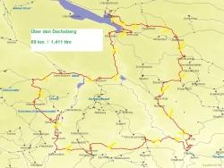 Karte Über den Dachsberg