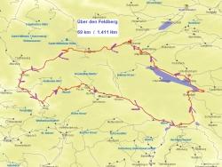 Karte Über den Feldberg