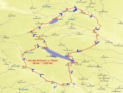 Karte Um den Schluch- u. Titisee